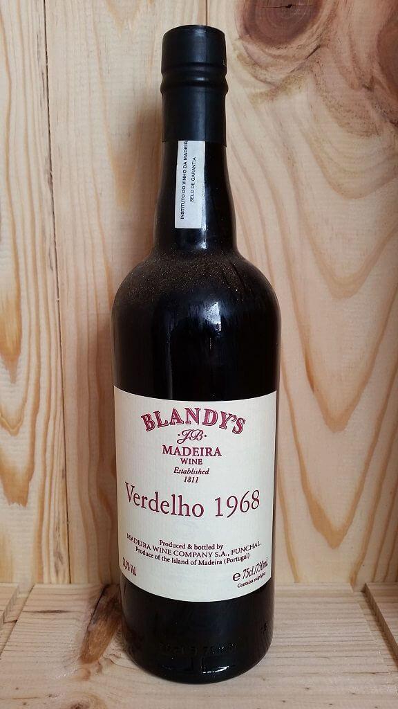 Blandys 1968 Verdelho Vintage Madeira Back Label