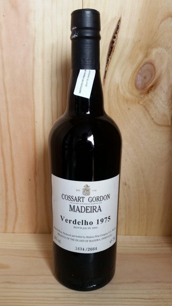 Cossart Gordon Verdelho 1975 Vintage Madeira Back Label