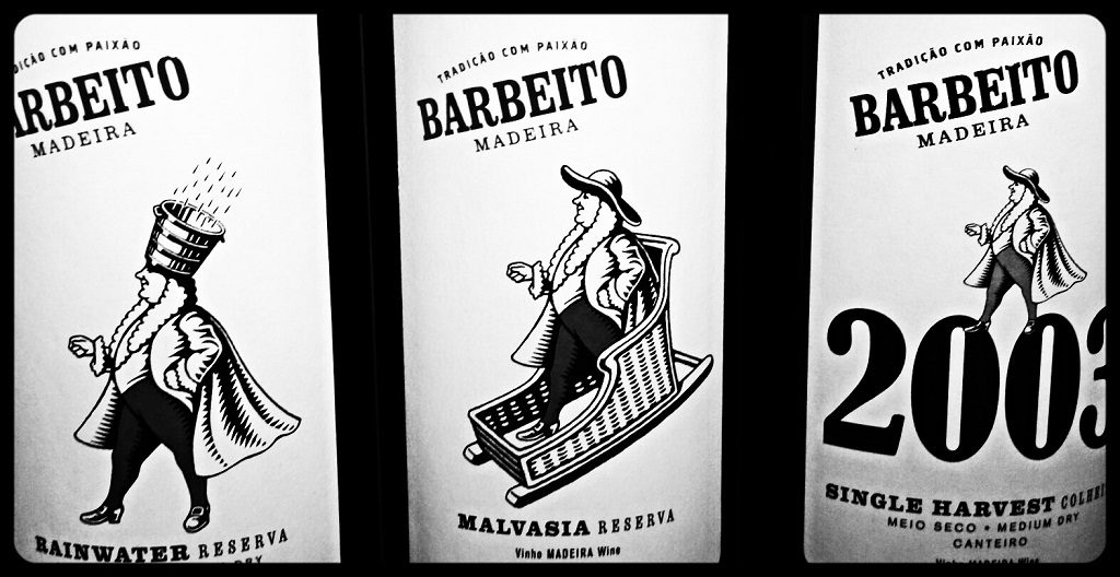 Barbeito Madeira Labels Black and White