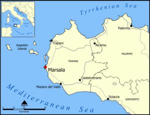 Marsala, Italy map