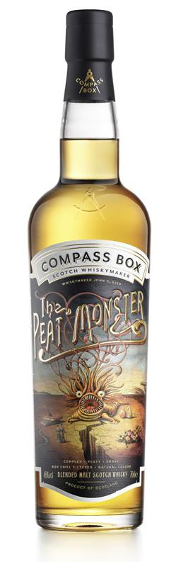 Compass Box Peat Monster Tenth Anniversary Bottling Label