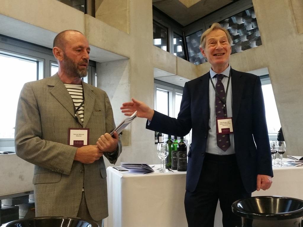 Hannes Myburgh with Mark Bingley MW